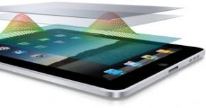 La pantalla multitáctil del iPad